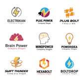 Diseño del símbolo de la electricidad Foto de archivo