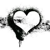 Diseño del símbolo del corazón del Grunge Fotos de archivo