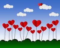 Diseño del símbolo del corazón del vector en fondo Imagen de archivo libre de regalías