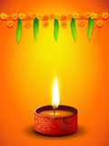 Diseño del saludo de Diwali Foto de archivo libre de regalías