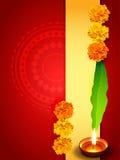 Diseño del saludo de Diwali ilustración del vector
