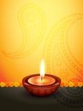 Diseño del saludo de Diwali Foto de archivo