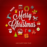 Diseño del saludo de la Navidad Fotos de archivo libres de regalías