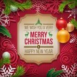 Diseño del saludo de la Navidad Imagen de archivo libre de regalías