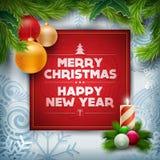Diseño del saludo de la Navidad Imágenes de archivo libres de regalías