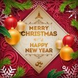 Diseño del saludo de la Navidad Foto de archivo libre de regalías