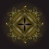 Diseño del sello del emblema del oro ilustración del vector