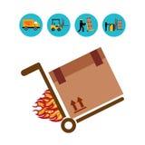 Diseño del servicio de entrega stock de ilustración
