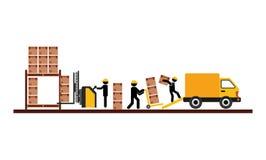 Diseño del servicio de entrega ilustración del vector