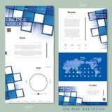 Diseño del sitio web de la página del estilo uno de la tecnología Imágenes de archivo libres de regalías