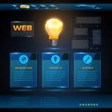 Diseño del sitio web. Fondo de la tecnología ilustración del vector