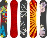 Dise?o de la snowboard Fotos de archivo libres de regalías