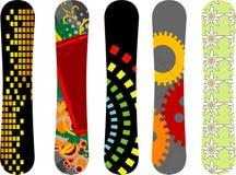 Dise?o de la snowboard Fotos de archivo