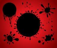 Diseño del splat de Grunge ilustración del vector