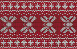 Diseño del suéter de la Navidad Modelo inconsútil Imagenes de archivo