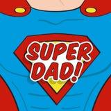 Diseño del super héroe del día de padres Imagenes de archivo