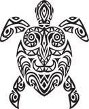 Diseño del tatto de la tortuga Imagenes de archivo