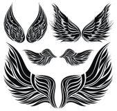 Diseño del tatuaje de las alas ilustración del vector