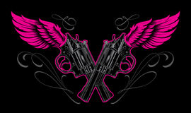 Diseño del tatuaje de los armas y de las alas Fotografía de archivo libre de regalías