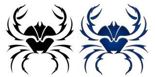 Diseño del tatuaje del cangrejo Imagen de archivo
