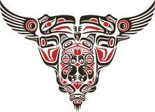 Diseño del tatuaje del estilo del Haida Imagenes de archivo