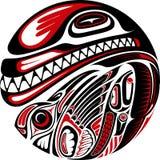 Diseño del tatuaje del estilo del Haida Fotografía de archivo