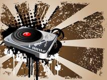 Diseño del tema de DJ Imagenes de archivo