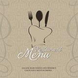 Diseño del tempale del menú del restaurante Imagenes de archivo