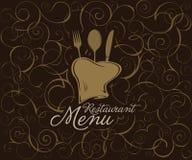 Diseño del tempale del menú del restaurante Foto de archivo libre de regalías