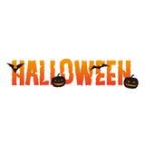 Diseño del texto de Halloween Fotografía de archivo libre de regalías