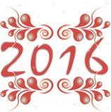 Diseño del texto de la Feliz Año Nuevo 2016 Fotografía de archivo libre de regalías