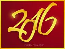 Diseño del texto de la Feliz Año Nuevo 2016 Fotografía de archivo