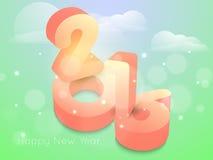 Diseño del texto de la Feliz Año Nuevo 2016 Imagenes de archivo