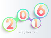 Diseño del texto de la Feliz Año Nuevo 2016 Foto de archivo
