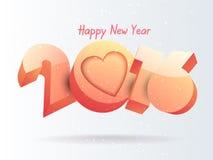 Diseño del texto de la Feliz Año Nuevo 2016 Imagen de archivo libre de regalías