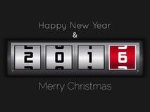Diseño del texto de la Feliz Año Nuevo 2016 Fotos de archivo libres de regalías