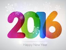 Diseño del texto de la Feliz Año Nuevo 2016 Imágenes de archivo libres de regalías