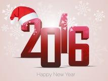 Diseño del texto de la Feliz Año Nuevo 2016 Fotos de archivo