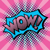 Diseño del texto del arte pop wow stock de ilustración