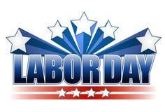 Diseño del texto del Día del Trabajo Imagen de archivo