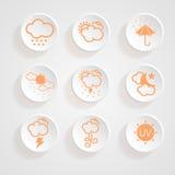 Diseño del tiempo de los iconos Imagen de archivo libre de regalías
