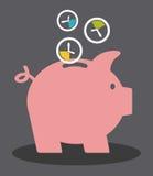 Diseño del tiempo del ahorro Imágenes de archivo libres de regalías