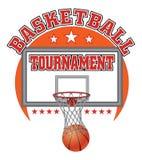 Diseño del torneo del baloncesto Imagen de archivo libre de regalías