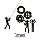 Diseño del trabajo en equipo y de negocio Fotografía de archivo libre de regalías