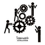 Diseño del trabajo en equipo y de negocio Imágenes de archivo libres de regalías