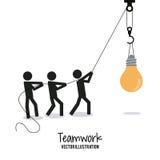Diseño del trabajo en equipo y de negocio Imagen de archivo