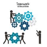 Diseño del trabajo en equipo y de negocio Fotografía de archivo