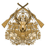 Diseño del trofeo de los cazadores   ilustración del vector