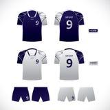 Diseño del uniforme del jugador del deporte del vector Fotografía de archivo