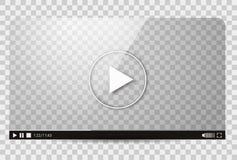 Diseño del vídeo Barra del juego de la película del interfaz medios Imagen de archivo
